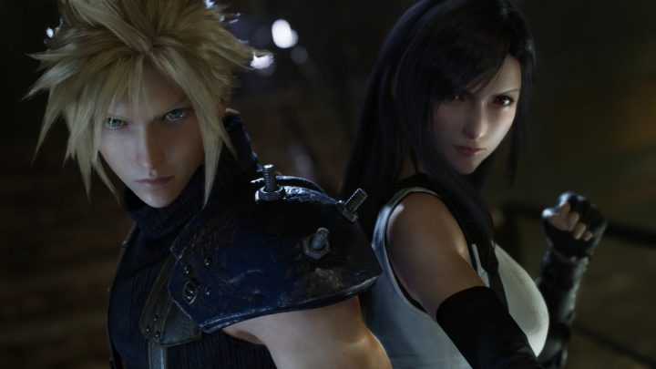 Cloud and Tifa FF7 Remake